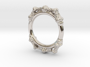 Kaleidoscopic Iterated Function System Ring 16.3mm in Platinum