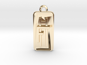 Fly High Tall Pendant 1cm in 14K Yellow Gold