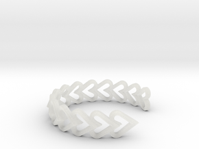 FLYHIGH: Open Heart Vertical Bracelet in Smooth Fine Detail Plastic
