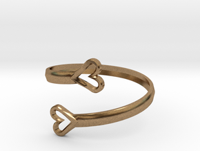 FLYHIGH: Open Hearts Bracelet in Natural Brass