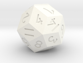 30 sided d15 in White Processed Versatile Plastic
