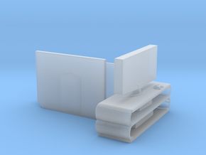 S Scale Flat Screen TVs in Smooth Fine Detail Plastic