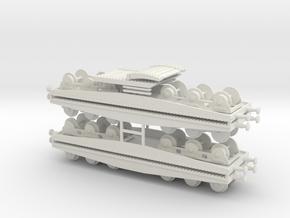 1/144 tank transport set in White Natural Versatile Plastic