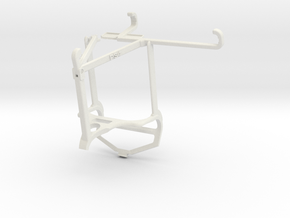 Controller mount for PS4 & Oppo K9 - Top in White Natural Versatile Plastic