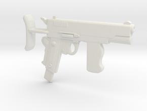 ColtM1911A1 SMG in White Natural Versatile Plastic