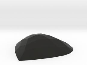 Heart Wall Décor (Polished Plastic) in Black Premium Versatile Plastic