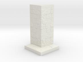 A modular dungeon corner wall tile in White Natural Versatile Plastic