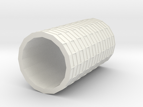 Brick Roller in White Natural Versatile Plastic