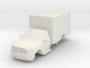 1/64 Dodge 2 door Medic/Ambulance in White Natural Versatile Plastic