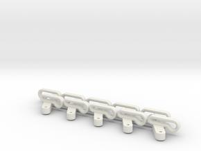 Slangeklemmer 45 Grader 10 stk. in White Natural Versatile Plastic