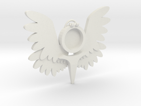 Smaller Winged Pendant m2 in White Natural Versatile Plastic