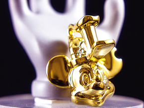Mickey Mouse 20s-2000s in 14k Gold Plated Brass