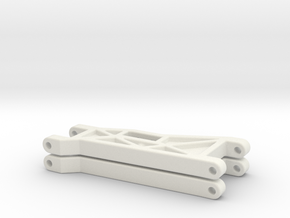 B2 front wishbone filled web  in White Natural Versatile Plastic