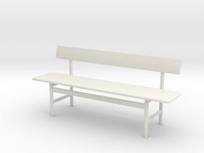 1:24 Miniature Mogensen Bench - Borge Mogensen  in White Natural Versatile Plastic