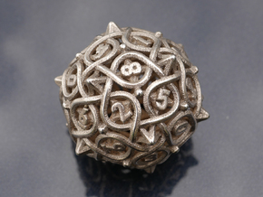 Multiplicitous d10 in Polished Bronzed-Silver Steel