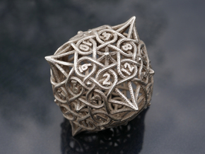 Multiplicitous d12 in Polished Bronzed-Silver Steel