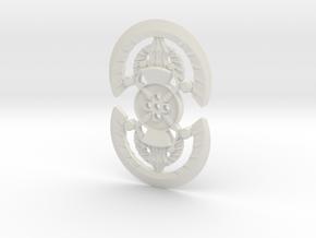 Axxim shield (alt) in White Natural Versatile Plastic