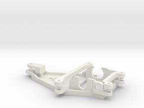 Motorpod for Thunderslot /  Offset -0,5mm in White Natural Versatile Plastic
