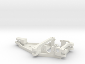 Motorpod for Thunderslot /  Offset +1,0mm in White Natural Versatile Plastic