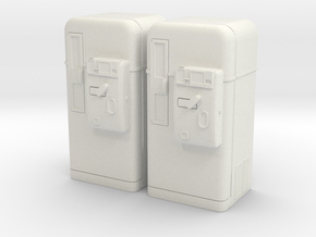 Vintage vending machine 01. 1:35 Scale  in White Natural Versatile Plastic