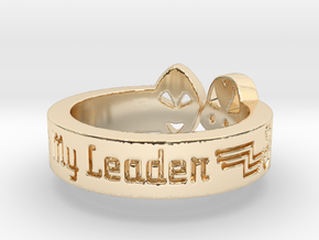 Be My Leader Alien Engagement Ring in 14k Gold Plated Brass: 6 / 51.5