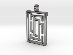 Labyrinth1 in Fine Detail Polished Silver