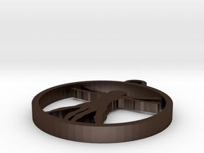 Da Vinci X Man Pendant in Matte Bronze Steel