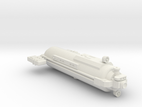Omni Scale General Small Auxiliary Scout (SAS) SRZ in White Natural Versatile Plastic