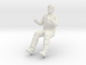 Car driver. 1:18 scale in White Natural Versatile Plastic