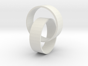 Two rings in White Natural Versatile Plastic