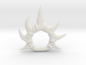Vertebrae Ring (Motu compatible) Origins/Vintage in White Natural Versatile Plastic