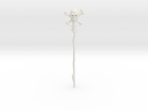 Skull Staff (Motu compatible) Origins/Vintage in White Natural Versatile Plastic