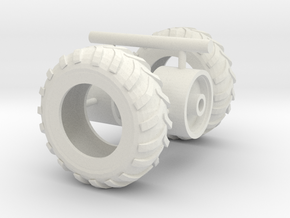 1/64th Unverferth ProForce 1850 Hopper tires in White Natural Versatile Plastic