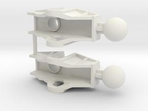 Bionicle Rahkshi Upper Leg X2 in White Natural Versatile Plastic