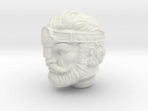 Fisto head Norem style (crown) Vintage in White Natural Versatile Plastic