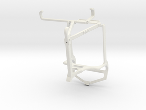 Controller mount for PS4 & Nokia C01 Plus - Top in White Natural Versatile Plastic
