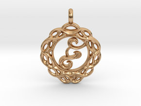 Living water wellspring of life necklace pendant. in Polished Bronze