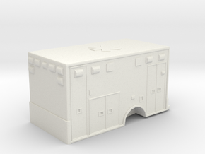 Ambulance  Body 01. 1:87 Scale in White Natural Versatile Plastic