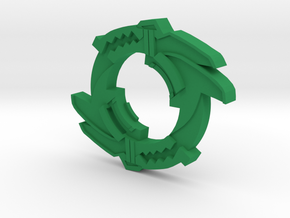 Beyblade Trygator-1 attack ring in Green Processed Versatile Plastic