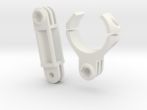 Speargun Mount For Action Camera (rubber bands) in White Natural Versatile Plastic