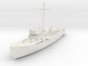 1/350 Scale YMS 1-134 Class Minesweeper in White Natural Versatile Plastic