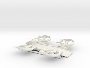 SA2 Samson Quad Heavy Cargo Civ w/ vine cutter in White Natural Versatile Plastic