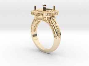 Engagement Ring in 14k Gold Plated Brass