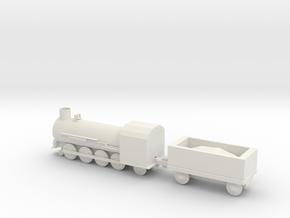 Steam train with coal car in White Natural Versatile Plastic