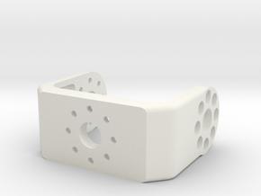 3D printed bracket for the Dynamixel MX-28 servo  in White Natural Versatile Plastic