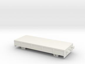 HO/OO Basic Breakdown train flatbed chain in White Natural Versatile Plastic