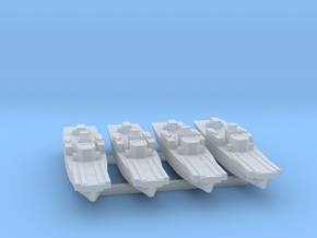 4pk Fairmile H class LCI-S WW2 1:1250 in Smooth Fine Detail Plastic