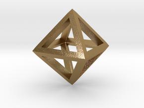 Octahedron in Polished Gold Steel