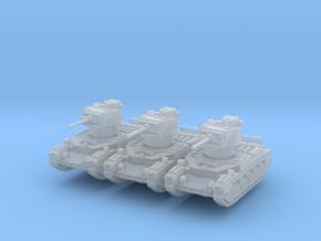 Matilda II (mid) (x3) 1/285 in Smooth Fine Detail Plastic