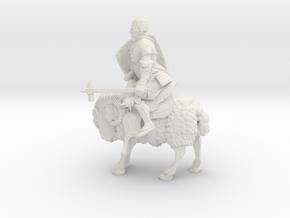 Ram Knight in White Natural Versatile Plastic